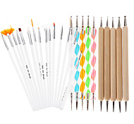 25Pcs DIY Nail Art Design Painting Dotting Pen Nail Drawing Self Design Brushes Manicure Bundle Tool Kit Set