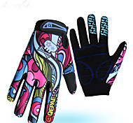 Sports Gloves Bike Gloves / Cycling Gloves Keep Warm Wearproof Anti-skidding Reduces Chafing Full-finger Gloves Cotton Fibre Lycra