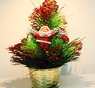 Недорогие -мини Рождественская елка сосновой шар украшения
