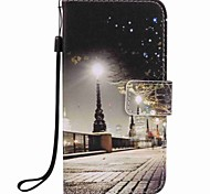 For Samsung Galaxy J7 J5 (2016) Case Cover City Scenery Painting PU Phone Case J5 J3 G360 G530