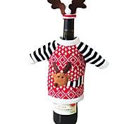 Недорогие -Рождественский олень стиль лосей бутылка красного вина шампанского покрывает мешок на новый год рождественские украшения украшения