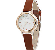 cheap -Women's Fashion Quartz Casual Watch Small Cute Leather Belt Round Alloy Dial Watch Cool Watch Unique Watch Strap Watch