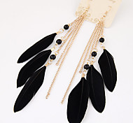 cheap -Women's Drop Earrings Tassel Fashion Feather Alloy Wings / Feather Jewelry Party Casual Costume Jewelry