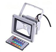 Ac85-265v 10w télécommande couleur rgb éclairage extérieur coloré led projecteur 1pc