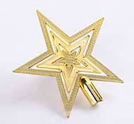 1Pcs 20Cm Optional Christmas Tree Topstar Ornaments Plated Plastic Five-Pointed Star For Home Christmas Decoration