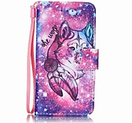 Недорогие -lon wolf painting pu phone case for apple itouch 5 6 ipod case / covers