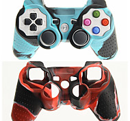 cheap -Protective Dual-Color Silicone Skin Cover Case for PS3 Controller Free Shipping