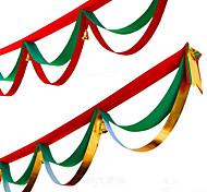 Недорогие -1шт случайные цвета рождественские украшения для домашнего диаметра партия 400см NAVIDAD новые поставки год рождественские флаги шелковой