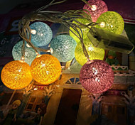 cheap -The Battery Lights Thailand Cotton Ball Lights Series Color Ball 20 Lamp Cap 3.5Meters