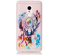 For Glow in the Dark / Translucent Case Back Cover Case The Deer Head Wind Chimes Soft TPU Xiaomi Redmi Note 4 Redmi Pro