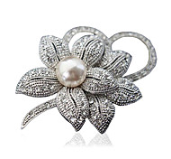 cheap -Women's Brooches - Flower Fashion Brooch Silver / Golden For Party / Daily / Casual