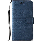 For Samsung Galaxy A3(2016) A5(2016) Case Cover Elephant Pattern Embossed Model Table PU Leather Light Card Stent Lanyard Holster A3 A5