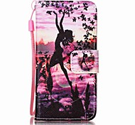 Butterfly Girl Painting PU Phone Case for apple iTouch 5 6 iPod Cases/Covers