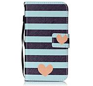 cheap -Case For LG K8 LG LG K10 LG K7 Card Holder Wallet Flip Pattern Full Body Cases Heart Hard PU Leather for LG X Screen LG X Power LG G4