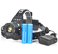 Налобные фонари Велосипедные фары огни безопасности LED 5000 Люмен 1 Режим Cree XM-L T6 Батарейки не входят в комплект Угловой фонарь