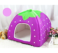 Cat Dog Bed Pet Baskets Fruit Soft Purple Brown Ruby Blue Blushing Pink