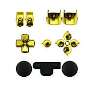controladora de repuesto kit conjunto de la caja fija para mando de PS3 de oro / plata
