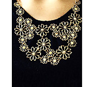 cheap -Women's Flower Shape Festival/Holiday Adjustable Statement Necklace Alloy Statement Necklace Party Gift Daily Office & Career Costume