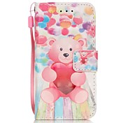 Balloon Bear 3D Painting PU Phone Case for apple iTouch 5 6 iPod Cases/Covers