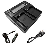 ismartdigi bln1 LCD Dual зарядное устройство с кабелем для зарядки в автомобиле для Olympus млрд-1 em1 EM5 EP5 е-m1-m5 е-е-е p5 m5ii