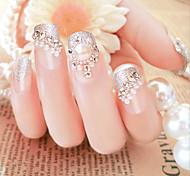 24 штук в коробке поддельные гвозди оптовой жемчуг ShanZuan Floret невеста ногтей полоски