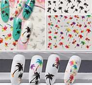 cheap -3pcs Water Transfer Sticker Nail Stamping Template Daily Fashion High Quality