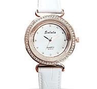 Mujer Reloj de Moda Reloj de Pulsera Reloj de cristal flotante Cuarzo / La imitación de diamante Brillante Piel Banda Cool Casual