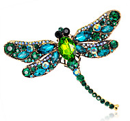 cheap -Women's Crystal Brooches - Fashion Red / Green / Blue Brooch For Wedding / Party / Daily