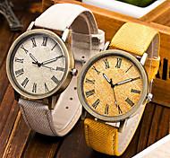 preiswerte -Damen Quartz Armbanduhr Schlussverkauf PU Band Modisch Cool Schwarz