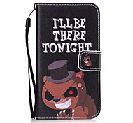 For Samsung Galaxy S7 Edge S7 S6 Edge S6 S5 S4 S3 Cartoon Bear Pattern PU Leather Full Body Case with Stand and Card Slot