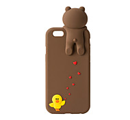 3D Cute Bear Silicone Case for iPhone 7 7 Plus 6s 6 Plus