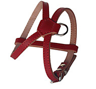 Dog Harness Adjustable / Retractable Handmade Solid Genuine Leather Black Brown Red