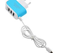 cheap -Home Charger / Portable Charger USB Charger EU Plug Fast Charge / Multi Ports 3 USB Ports 3.1 A