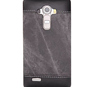 cheap -Case For LG Nexus 5 LG G3 LG K8 LG LG K10 LG K7 LG G5 LG G4 Shockproof Back Cover Solid Color Hard PU Leather for