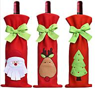 3шт горячей продажи рождественские украшения Санта-Клаус снеговика красное вино крышки бутылки