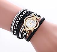 cheap -Women's Quartz Wrist Watch Bracelet Watch Colorful PU Band Charm Heart shape Vintage Casual Bohemian Fashion Cool Bangle Black White Blue
