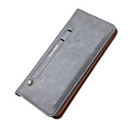 For iPhone X iPhone 8 iPhone 7 iPhone 7 Plus Case Cover Wallet Card Holder with Stand Full Body Case Solid Color Hard Genuine Leather for
