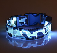 cheap -Cat Dog Collar LED Lights Adjustable / Retractable Camouflage Nylon Yellow Red Green Blue Pink