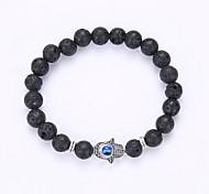 cheap -Men's / Women's Charm Bracelet / Strand Bracelet - Friends, Evil Eye Fashion Bracelet Black Hamsa Hand For Party / Gift