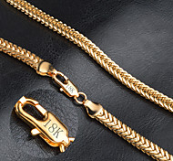 Men's Women's Chain Necklaces Gold Fashion Jewelry For Wedding Party Daily Casual Christmas Gifts