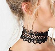 cheap -Women's Round Tattoo Style Fashion Statement Jewelry Choker Necklace Tattoo Choker Statement Necklace Jewelry Lace Choker Necklace Tattoo