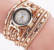 Women's Fashion Watch Wrist watch Bracelet Watch Quartz Luminous Punk Colorful PU BandVintage Sparkle Candy color Bohemian Charm Bangle