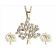 kalen®graceful gioielli femminili imposta albero della vita fornitore collana placcata 18k in acciaio inox oro italiano