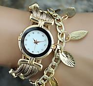 Женские Модные часы Наручные часы Часы-браслет Цветной Кварцевый PU ГруппаВинтаж Листья Богемные С подвесками Кольцеобразный Cool