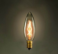 cheap -C35 Candle Yellow E14 40W 220V-240V Small Screw Edison Light Bulb