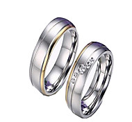 Band Rings,Jewelry Titanium Steel Fashionable Silver 1pc,5 / 6 / 7 / 8 / 9 / 10 / 11 / 12 Couples