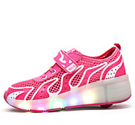 Kid's Skate Shoes LED Lights Anti-Slip Cushioning Wearproof Adjustable Green/Yellow/Blue/Pink