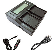 Недорогие -ismartdigi EL14 LCD Dual зарядное устройство с кабелем для зарядки в автомобиле для Nikon D3200 d3300 d5200 D5100 Аккумуляторы D5300 d5500