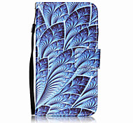 For LG K10 K8 Case Cover Blue Flowers Pattern Painting Card Stent PU Leather for K7 LS770 LS775 V20