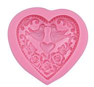 Couple Mandarin Duck Silicone Mold for Wedding Decoration ,Heart Sugar Paste Fondant Chocolate Mould Cake Tools SM-284